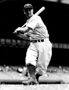 O astro Lou Gehrig no seu apogeu.