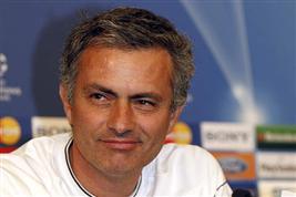 Mourinho durante uma coletiva na sua etapa como técnico do Real Madrid.