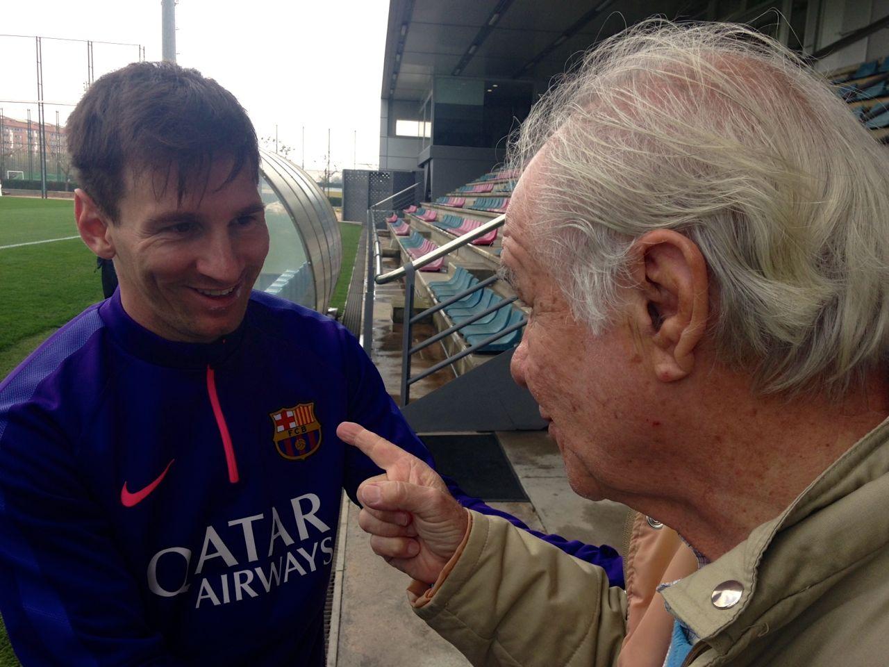 Evaristo e Leo Messi