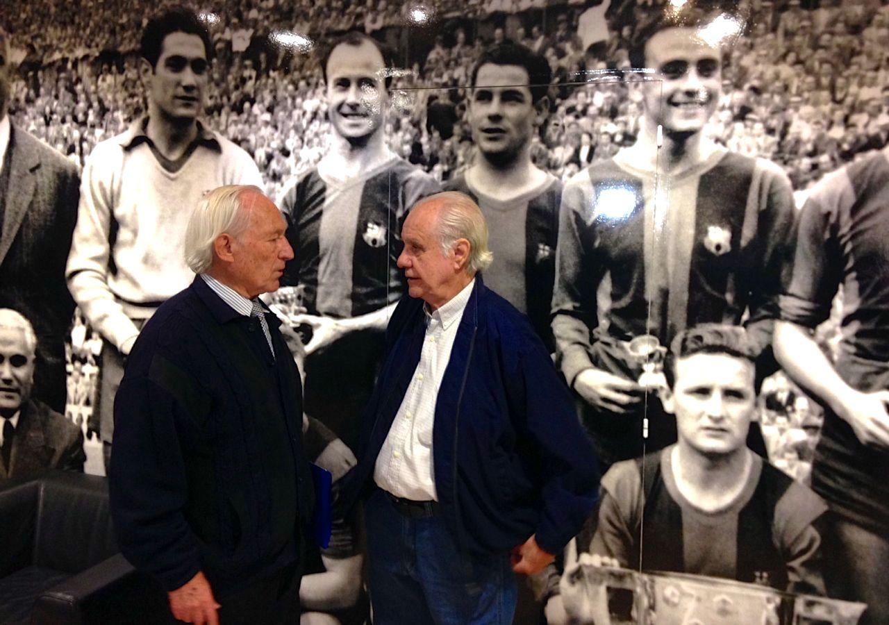 Evaristo e Tejada no Camp Nou