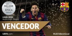 MESSI, o gol mais bonito da UEFA