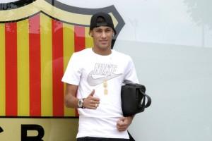 Neymar, no dia da sua apresentação no Barça