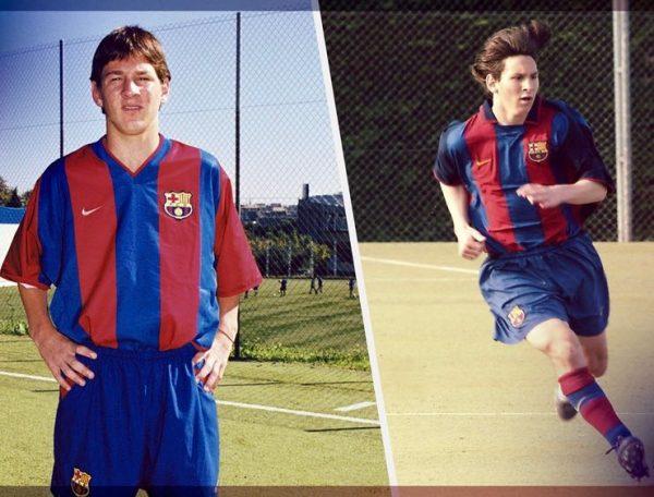 Messi, durante sua etapa na Masia FCB