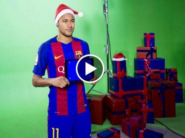 Neymar Jr, durante a campanha de Natal