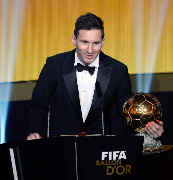 Messi com a sua quinta Bola de Ouro.