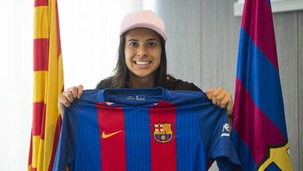 Andressa, a 1ª brasileira do Barça