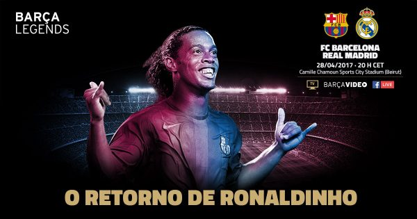 Ronaldinho lidera o Barça Legends no clássico do Líbano