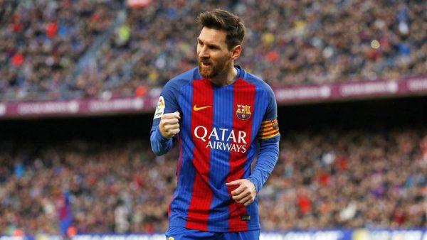 Messi comemorando gol