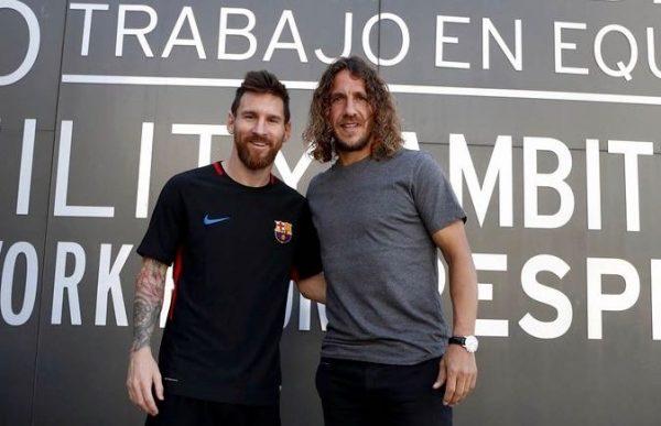 Messi e Puyol, juntos