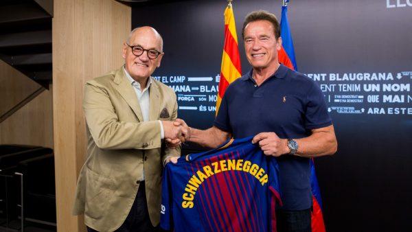 Schwarzenegger no Camp Nou