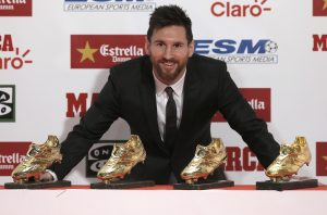 Messi com sua quarta Chuteira de Ouro