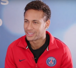 Neymar, durante a entrevista