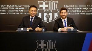 Bartomeu e Messi, juntos