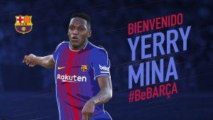 Yerry Mina: novo jogador do Barça