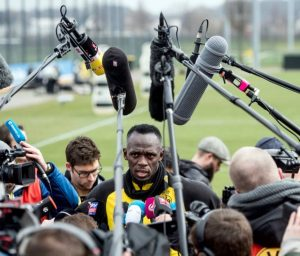Bolt no treino do Borussia Dortmund