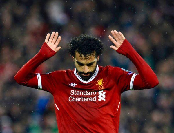 Salah comemora o gol contra a Roma