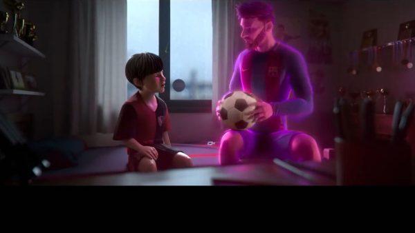 Messi em formato animação