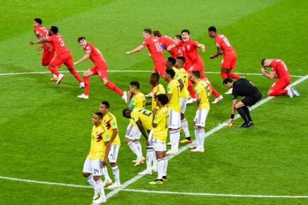 Vitória da Inglaterra sobre a Colômbia