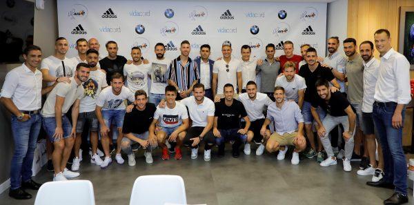 Os capitães dos times da Primeira Divisão espanhola na reunião da AFE, em Madrid