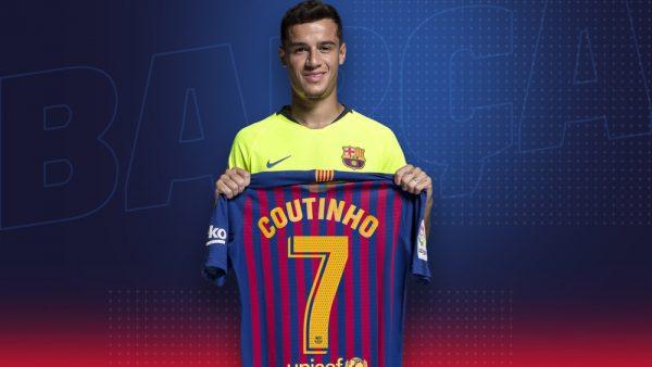 Coutinho: novo camisa '7' do Barça