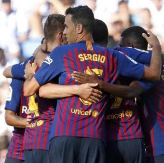 Jogadores do Barça
