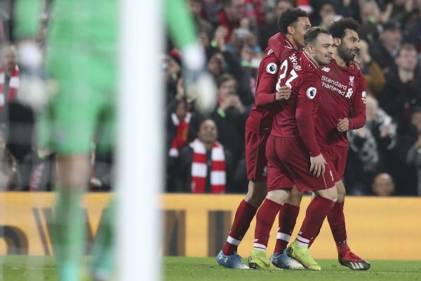 No 'Boxing Day' 2018, o Liverpool goleou o Newcastle (4-0) e disparou na liderança da Premier League