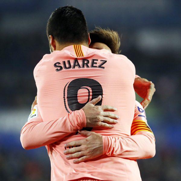Messi e Suárez somam juntos 28 gols na Liga Espanhola