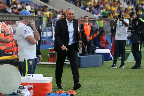 O técnico Tite, após a nova atuação decepcionante do Brasil
