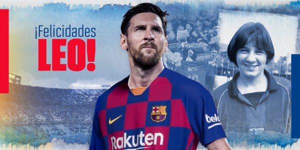 A imagem utilizada pelo Barça para felicitar o seu capitão, Leo Messi / FCB