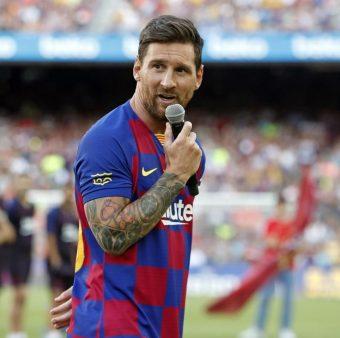 Messi, durante o seu discurso no Troféu Joan Gamper 2019