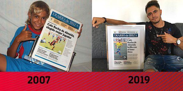 Caio, capa do Diário de Ibiza em 2007 e 2019.