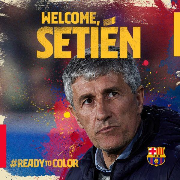 Quique Setién, novo técnico do Barça.