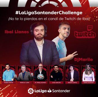 A foto promocional da Liga Santander Challenge FIFA 2020.