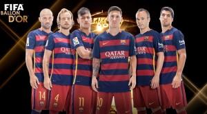 Os craques do Barça que concorrem à Bola de Ouro.