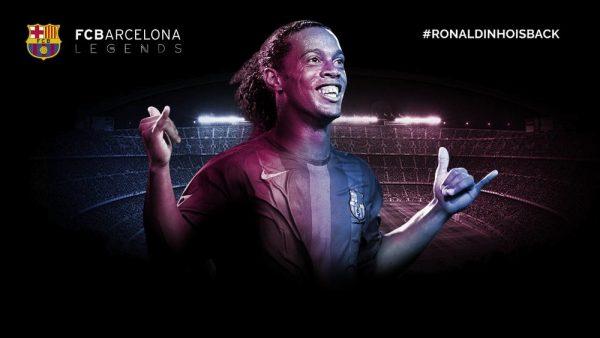Ronaldinho, embaixador do Barça