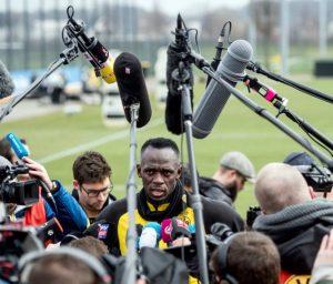 Bolt no treino do Borussia Dortmund