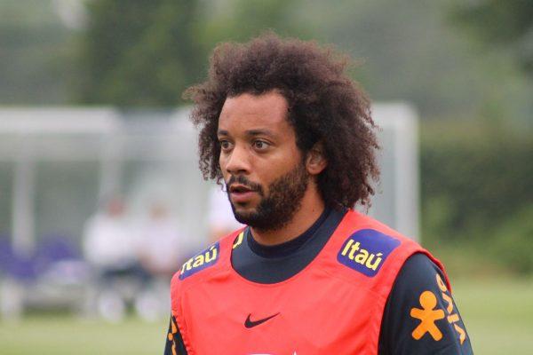 Marcelo no treino em Londres