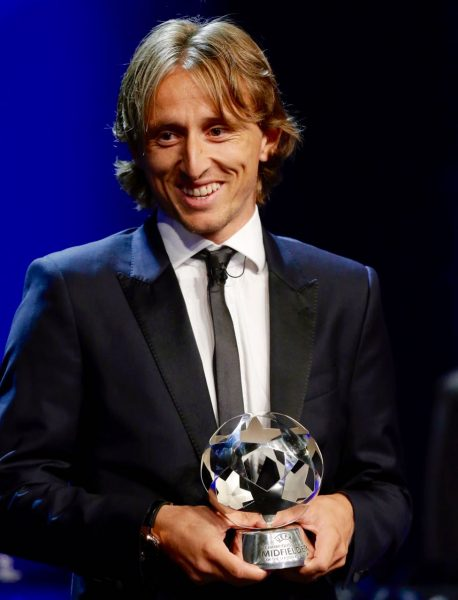 Luka Modric, eleito melhor meia e melhor jogador da temporada 2017/18 do futebol europeu