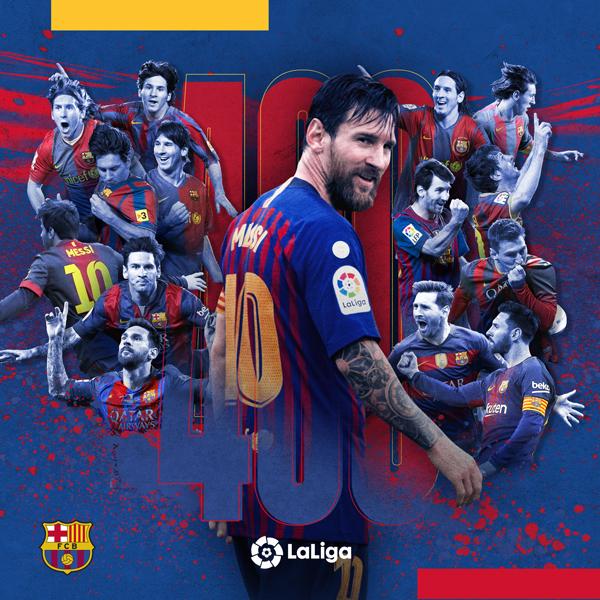 A criatividade usada pelo Barça nas redes para celebrar os 400 gols de Mesis na Liga