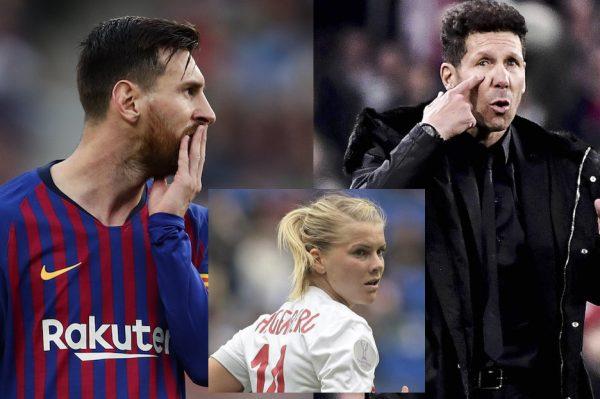 Messi, Simeone e Hegerberg são os que possuem os maiores salários no futebol