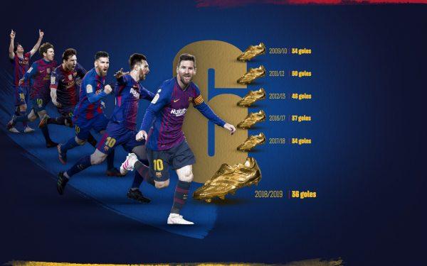 Messi, o único craque da história com seis Chuteiras de Ouro na coleção