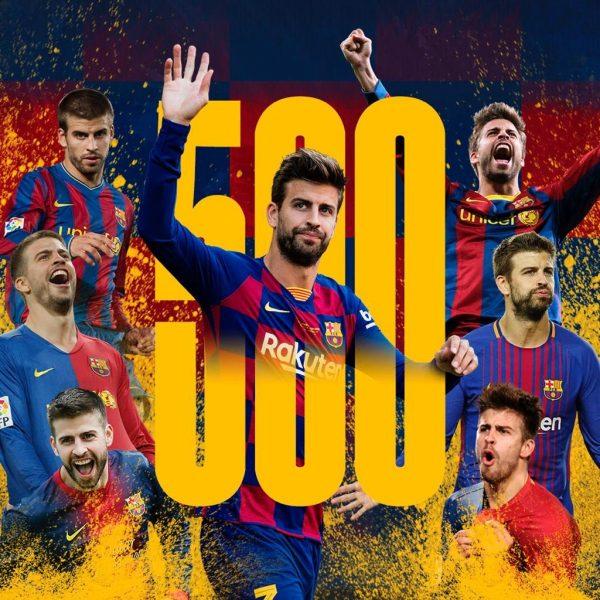 Piqué: 500 jogos com a camisa do Barça
