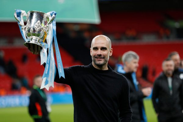 Pep Guardiola com o 29ª troféu da sua carreira com técnico.