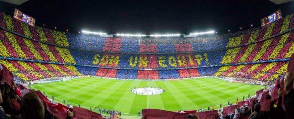O mosaico de um Camp Nou lotado. Uma cena que todos esperam voltar a ver em um futuro próximo.