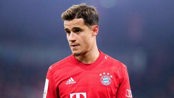 Coutinho em campo com a camisa do Bayern de Munique.